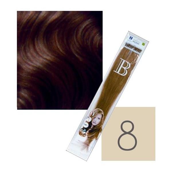 Queratina 10 Paquete de extensiones de Balmain rubia ligera N°8 45CM
