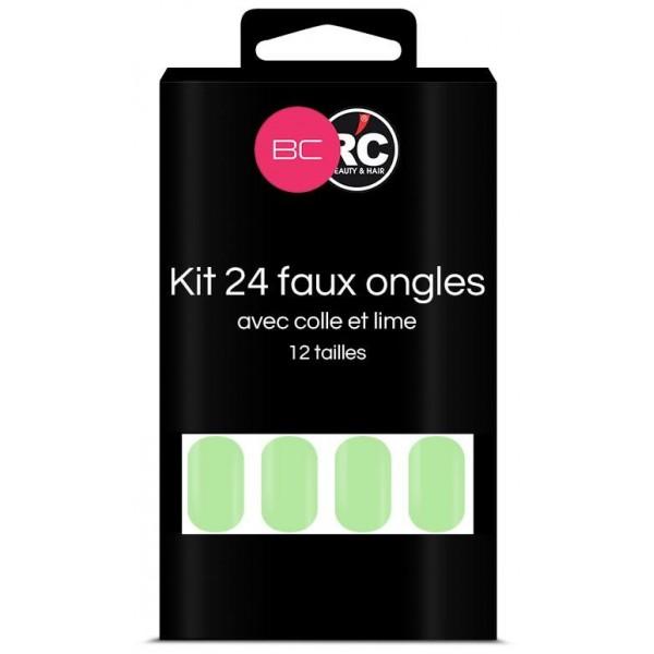 Boîte de 24 tips faux-ongles Paradise Green Beauty Coiffure