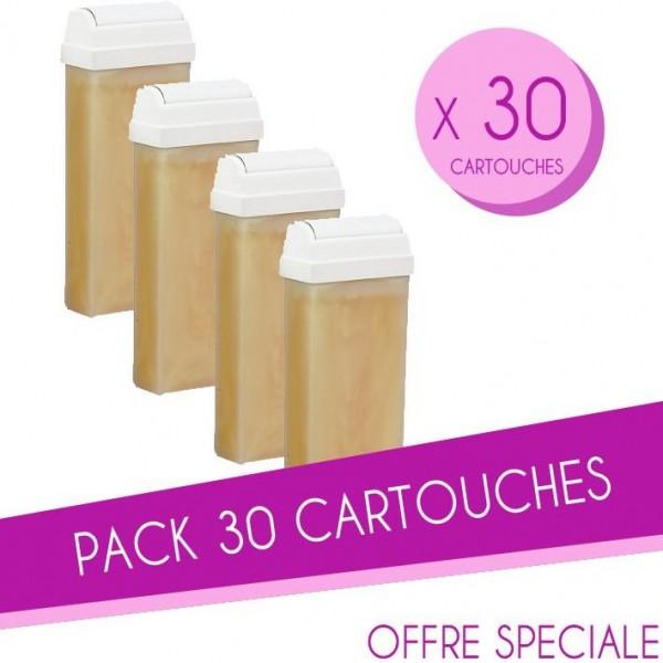 Pack de 30 cartuchos de cera 100 ML nacarado Sibel