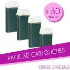Pack de 30 cartuchos de cera 100 ML verde Sibel