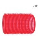12 rouleaux velcro rouges Shophair 36mm