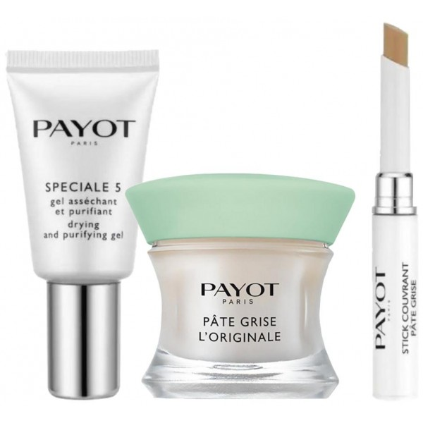 Routine SOS boutons Pâte Grise Payot