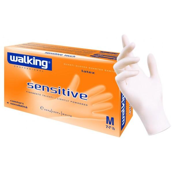 Box mit 100 Latex-Handschuhe Größe L