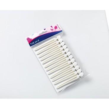 Pinze fermaciocche in alluminio/plastica bianche
