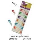 Clips pinzas de pelo de color X 12