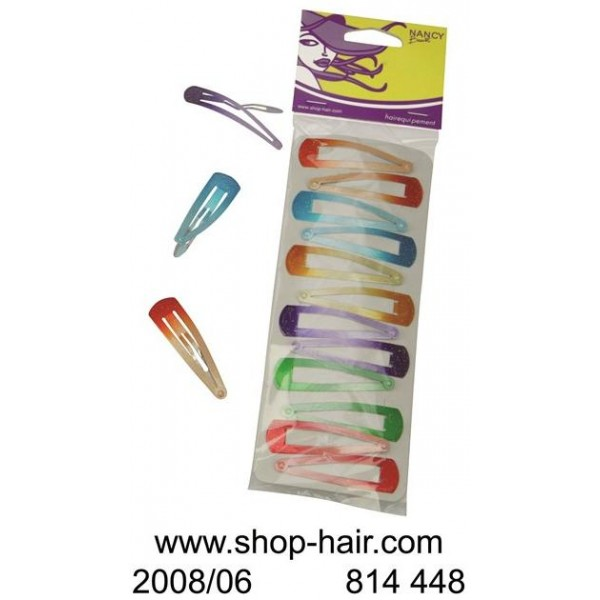 Colored Hair Clips Clips GM X 12