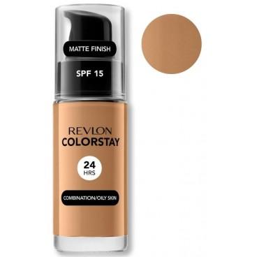 Fond de Teint Revlon ColorStay Oily Skin 400 Caramel Peaux grasses