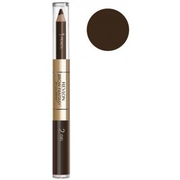 Eyebrow Pencil Duo Revlon Brow Fantasy 106 Dark Brown