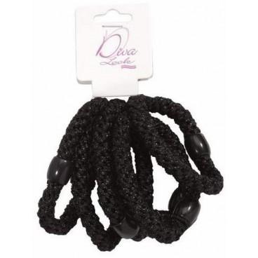 Sachet de 6 elastiques noirs 734
