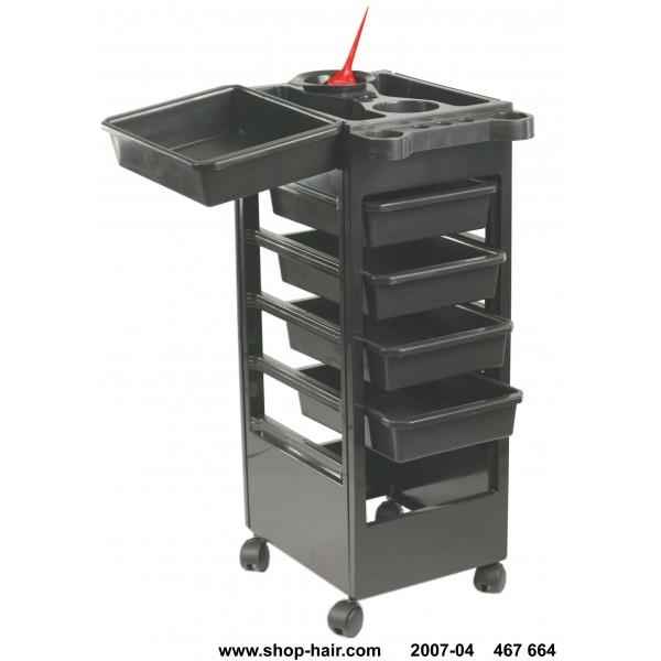 Baky Black Hairdressing Table 5 drawers