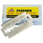 Paquet 10 Lames Rasoir feather new hi-stainless