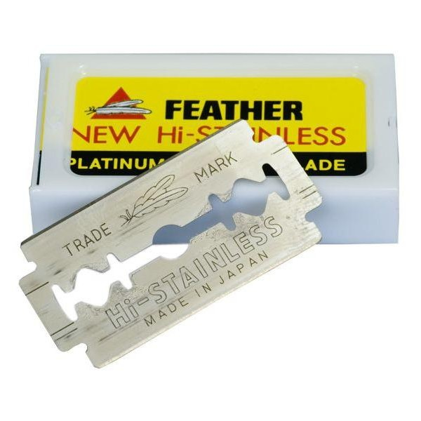 Pack 10 Blades feather new hi-stainless