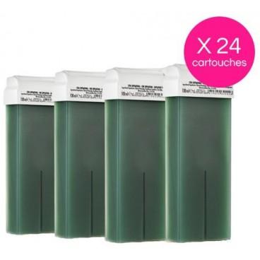 Pack 24 cartouches cire Verte Xanitalia