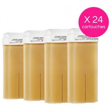 Pack 24 Cartouches Cire Jetable Miel Xanitalia