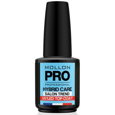 Top Coat Vernis Semi-Permanent Hybrid Shine Mollon Pro 12ml