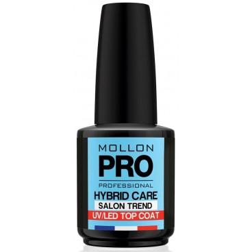 Top Coat Vernis Semi-Permanent Hybrid Shine Mollon Pro 12ml