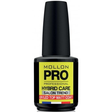 Top Coat Matt Vernis Semi-Permanent Hybrid Care Mollon Pro