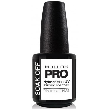 Top Coat Vernis Permanent Strong Top Coat Soak Off Mollon Pro 15 ml