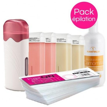 Pack Cire Xanitalia Rose/Nacrée Roll'On