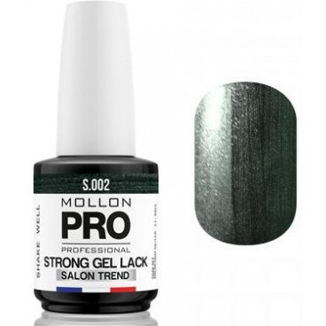 Vernis Permanent Soak Off Strong Gel Lack Mollon Pro 12ml Hematite Beauty - 02