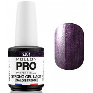 Vernis Permanent Soak Off Strong Gel Lack Mollon Pro Shiny Amethyst - 04