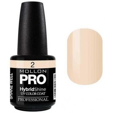 Vernis Semi-Permanent Hybrid Shine Mollon Pro 15ml Vanilla - 02