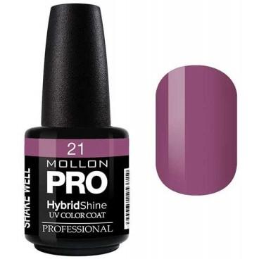 Vernis Semi-Permanent Hybrid Shine Mollon Pro Violet - 21
