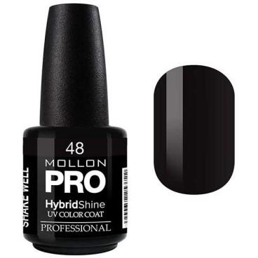 Vernis Semi-Permanent Hybrid Shine Mollon Pro 15ml Black / Noir - 48