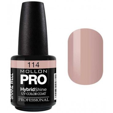 Vernis Semi-Permanent Hybrid Shine Mollon Pro 15ml Sakura - 114