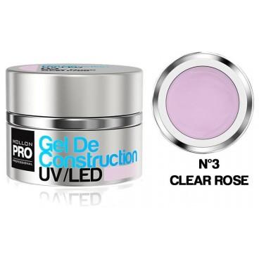 Gel de Construction UV/Led Mollon Pro 15 ml Clear Rose - 03