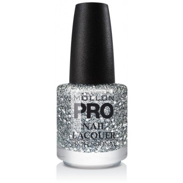 Top Coat Effet Pailleté Mollon Pro Silver Drops - 201