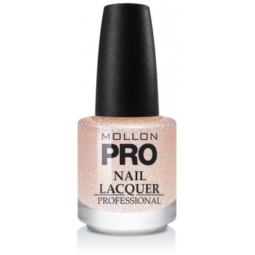 Top Coat Effet Pailleté Mollon Pro Peach Sparkle - 206