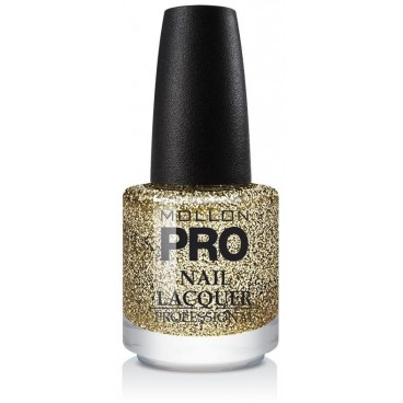 Top Coat Effet Pailleté Mollon Pro Shimmer Gold - 906