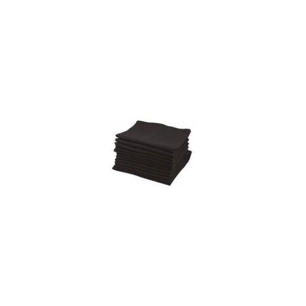 Sibel Black Cotton Towels X 12 pieces