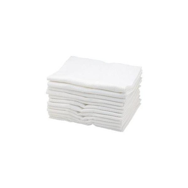 Sibel Cotton Towels White X 12 pieces
