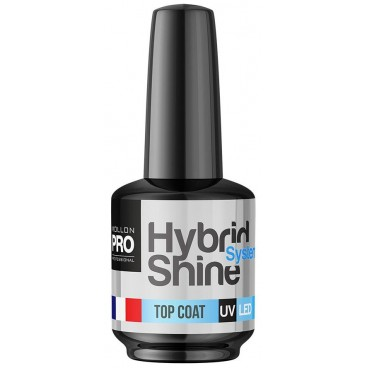 Mini Top Coat Vernis semi-permanent hybrid Shine 8ml