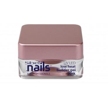 Gel UV/Leds de construction rose basse température Sibel Nails 15ml