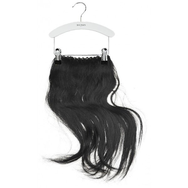 Balmain Haarverlängerung 40 cm Schwarzes Kleid Nr 1B