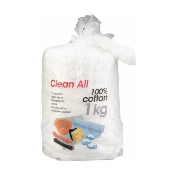 El algodón absorbe 1 kg