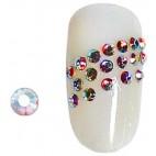 100 Strass de uñas Aurora Borealis