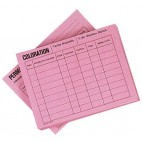 Confezione da 50 schede - rosa