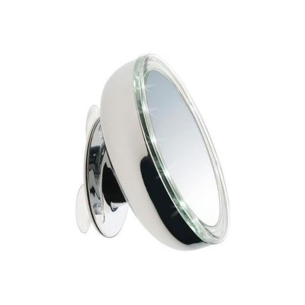 Specchio Oslo con LED e ventose - 13 cm