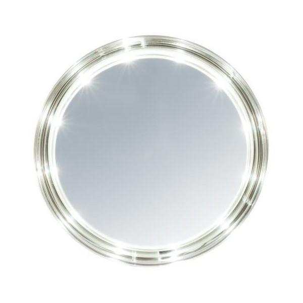 miroir oslo rond leds et ventouses 13 cm. Black Bedroom Furniture Sets. Home Design Ideas