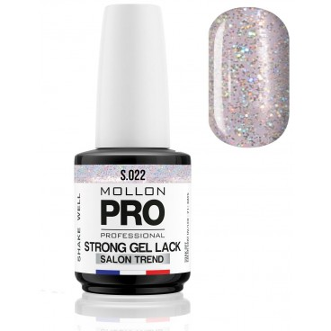 Vernis Permanent Soak Off Strong Gel Lack Mollon Pro 12ml Aqua Quartz - 022