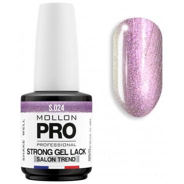 Vernis Permanent Soak Off Strong Gel Lack Mollon Pro 12ml Obsidian - 024