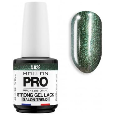 Vernis Permanent Soak Off Strong Gel Lack Mollon Pro 12ml Malachite - 028