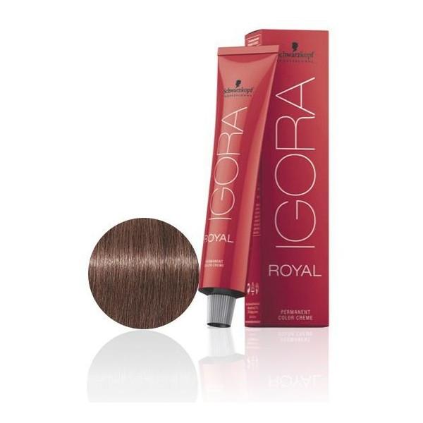 Igora Royal 7-17 Biondo medio cenere ramato - 60 ml -