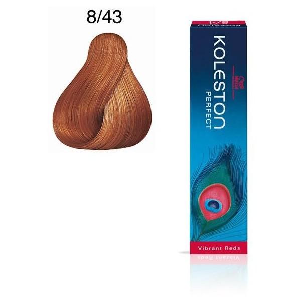 Koleston Perfect 8/43 Light Copper Blonde Gold 60ml