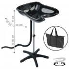 Washing Head Portable Compact Tray Black