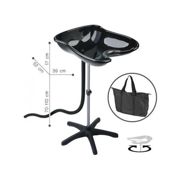 bac lave t te portable compact noir. Black Bedroom Furniture Sets. Home Design Ideas